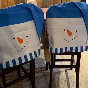 Snow Man Chair Covers